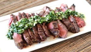 Easy Grilled Skirt Steak with Chimichurri Sauce
