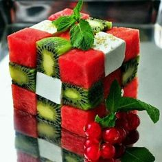 watermelon and kiwi