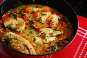 Tomato-Basil-Chicken